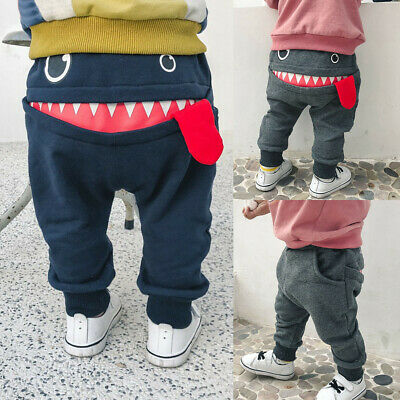 Toddler Kids Baby Boys Pants Bottom Joggy Leggings Trousers Cotton Clothes 0-4Y