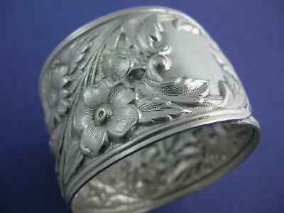 Sterling S KIRK & SON Napkin Ring floral REPOUSSE no.28 ~no mono ~ $169 each