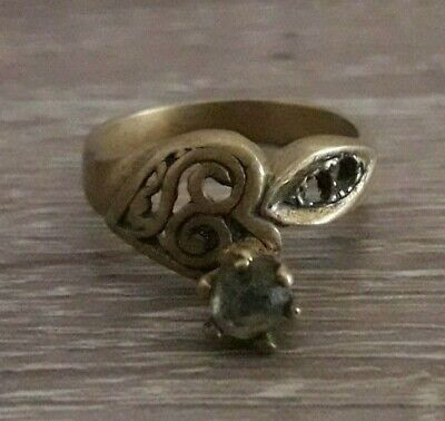 Ancient Wedding Bronze Ring Roman Legionary Style Rare Old Jewelry Art