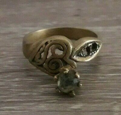 Unique Ancient Wedding Bronze Ring Roman Legionary Antique Rare Old Jewelry Art