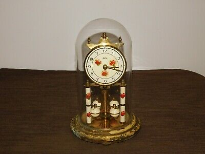 """Vintage  Germany Koma 9"""" High Wind Up Mantle Clock *For Parts Not Working"""