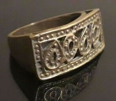 Roman Ancient Ring Medieval Antique Unique Jewelry Old Collection Wearable Rare
