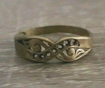 Ancient Ring Bronze Old Quality Medieval Roman Style Unique Jewelry Very Rare