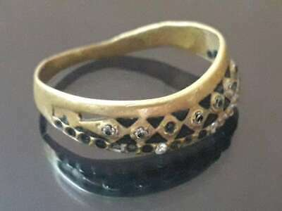 Antique Ring Bronze Unique Jewelry Very Rare Old Quality Medieval Roman Style