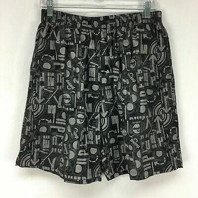 Vtg 90s Reebok Mens Black Charcoal The Pump Athletic Workout Gym Shorts