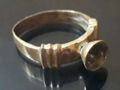 Ancient Bronze Ring Roman Medieval Design Old Collection Quality Rare