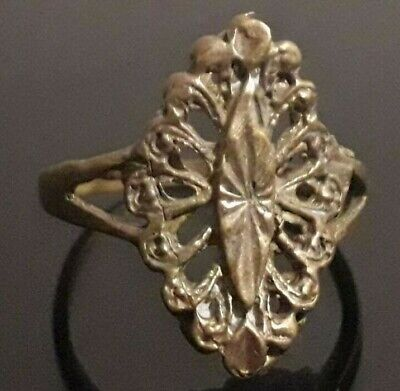Fabulous Old Ring Bronze Viking Nordic Jewelry Antique Very Rare Type Unique
