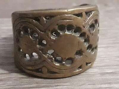 Ancient Rare Antique Bronze Ring Roman Legionary Jewelry Unique Very Old Quality