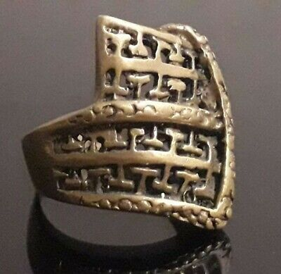 Very Rare Roman Medieval Antique Ring Old Jewelry Unique Stunning Ornament