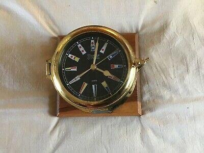 Vintage Weems and Plath Ships Clock Germany