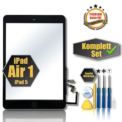 ✅Apple iPad Air 1 iPad 5 Touchscreen Digitizer Glas Display Scheibe schwarz 9,7""