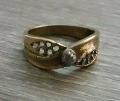 Unique Ancient Viking Ring Bronze Fabulous Jewelry Very Rare Artifact Quality