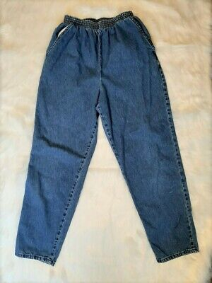 Chic Classic Collection Women's Cotton Pull-on Pant with Elastic Waist Size 12