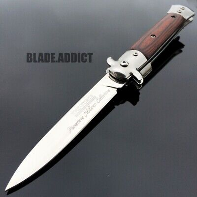 """9"""" TAC FORCE Italian Stiletto Tactical Spring Assisted Open Pocket Knife-M"""