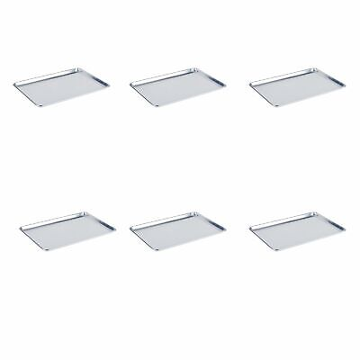 """6 Pack Sheet Pan 18""""x26"""" Cookie Baking Aluminum Full Size Bakeware Commercial"""