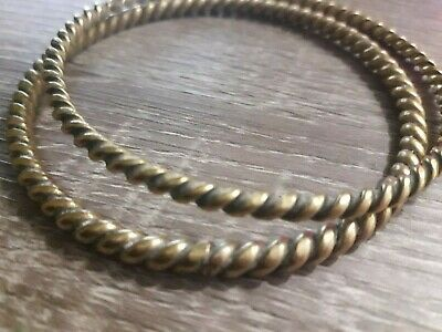 Stunning Bracelet Artifact Twisted Bronze Viking Very Rare Old Collection Unique