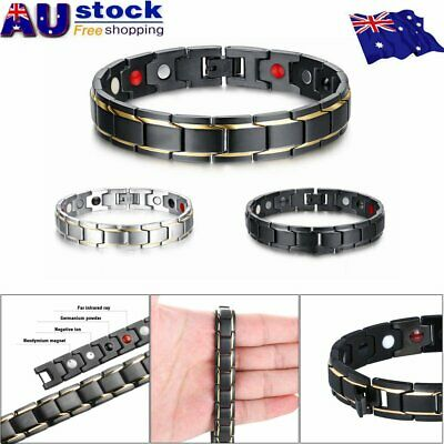 Therapeutic Energy Healing Bracelet Stainless Steel Magnetic Therapy Bracelet Y2