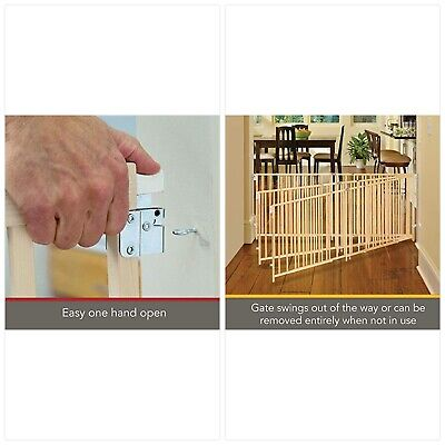 """Perfect for Oversized Spaces. North States 103/"""" Wide Extra-Wide Swing Baby Gate"""