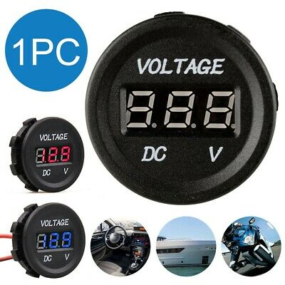 12-24V LED Digital Display Voltmeter DC Voltage Gauge Meter For Car Motorcycle