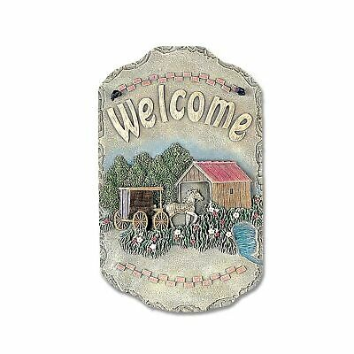 """13 in /""""Dragonfly/"""" Porch Decor Plaque ID 3936821 Welcome Sign"""
