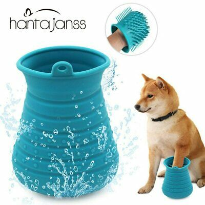 Soft Silicone Dog Paw Washer Portable Comfortable Cleaner Cup Cat Grooming Brush
