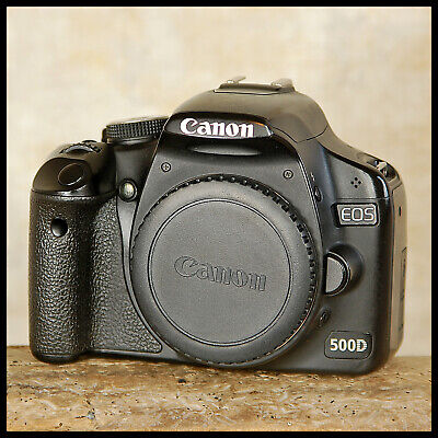 Canon EOS 500D Digital SLR Camera + charger battery pocket guide FREE UK POST