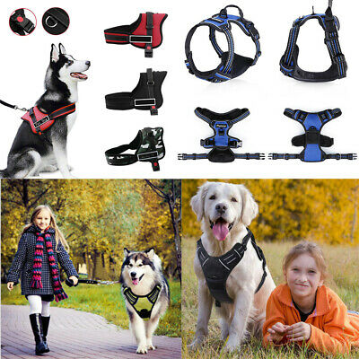 No pull Dog Harness Pet Vest Padded Outdoor Adventure Handle Small Extra Large