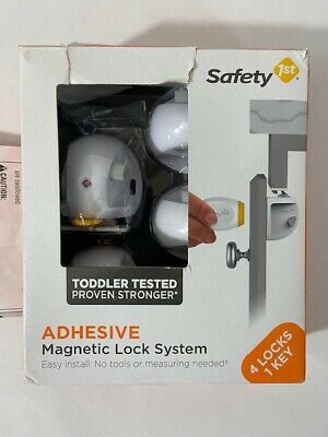 Safety 1st Magnetic Lock│Adhesive /& Quick To Unlock With Magnetic Key│2Lock+1key
