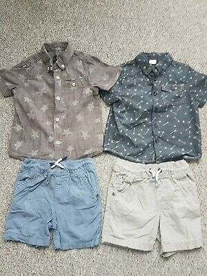 Boys F&F Tu Summer Shorts Vests Outfit Bundle Age 2-3 Years