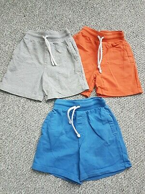 Boys George 3 Pack Cotton Summer Shorts Age 2-3 Years