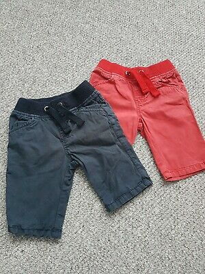 Boys Tu Navy Red Shorts Age 2-3 Years