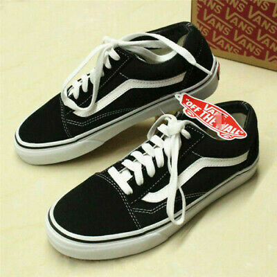 Old Skool Low Top Suede Skate Shoes Mens Womens All Size Classic Canvas Sneakers
