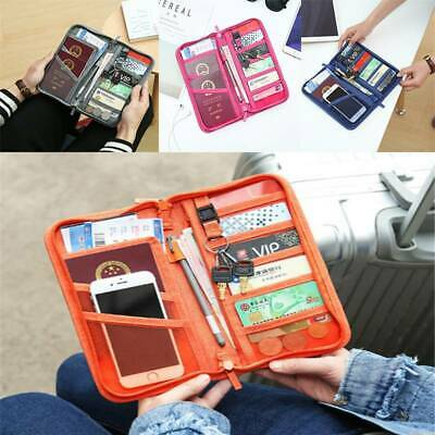 Travel Wallet Document Organizer Bag Family Passport and Ticket Card Holder  S