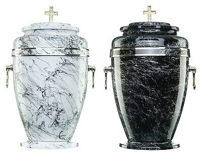 Urns for Ashes Adult Large Cremation Funeral Memorial Remains Cross Aluminium