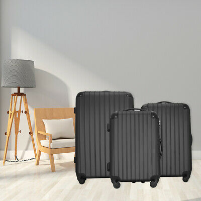 "Set of 3 20"" 24"" 28"" Luggage Set Travel Bag ABS Trolley Spinner Suitcase wi"