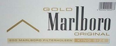 Marlboro Gold Cigarette Tobacco Maker  Filter Tubes Quality Smokers Pack Of 5