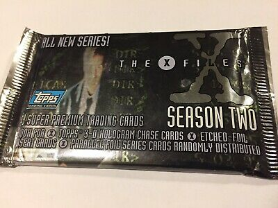 1996 Topps X Files Season 2 Card Pack - 9 Super Premium Trading Cards - Sealed