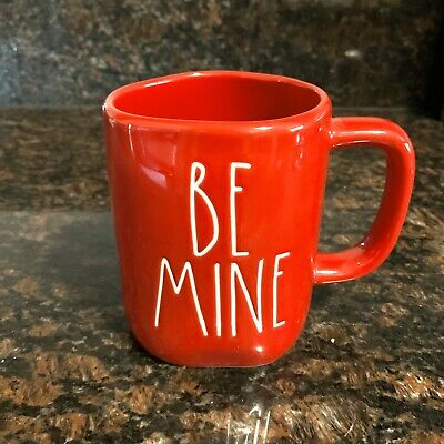 New Rae Dunn BE MINE Red Valentine's Day Coffee Tea Cocoa Mug Cup LL By Magenta
