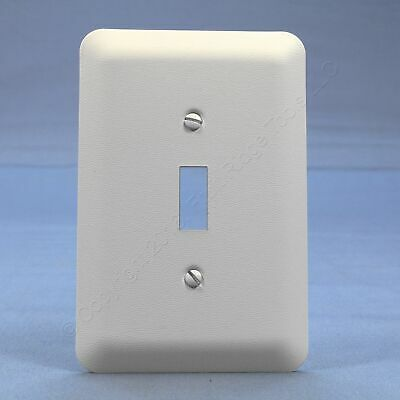 Leviton White Toggle Switch Cover Oversized Metal Wallplate Switchplate 89301-WH