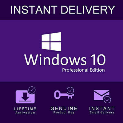 INSTANT Microsoft Windows 10 ProF Key Product Key License Code 32 / 64 bit