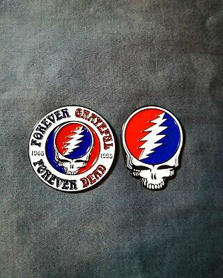2 Steal Your Face Pins. Grateful Dead.