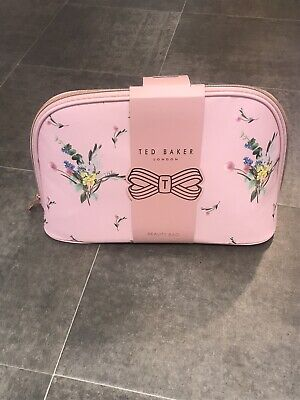 BN Ted Baker Pink Floral Sprig Large Beauty Bag Toiletry / Make Up
