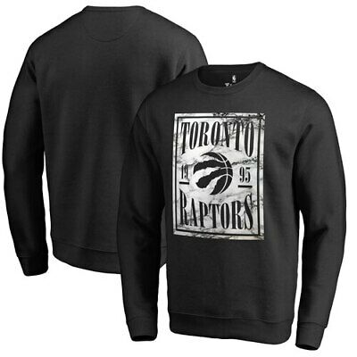 Toronto Raptors Fanatics Branded Court Vision Crew Sweatshirt - Black