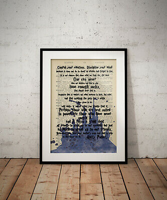 In this House we do Disney Quote Print Poster Wall Art A4 A3 A6 Kids Gift 1066
