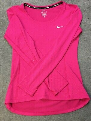 long sleeve nike running top high-visability breathable size XS gym sport yoga