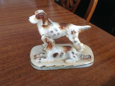 English Setter majestic porcelain dog in pointing position 2 T