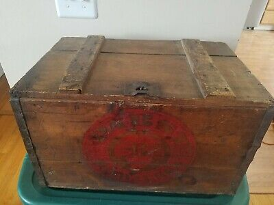 Vintage Collectible Pabst Blue Ribbon wooden beer crate PBR