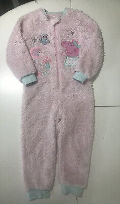 Matalan Girls Peppa Pig Fluffy Pink All In One 4-5 Years