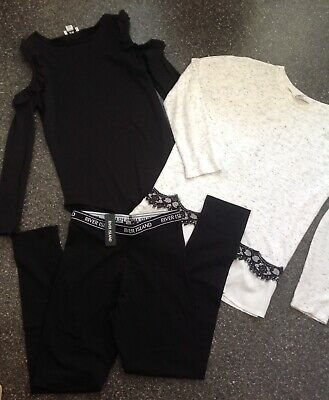 Bnwt River Island Leggings And Tops Aged 11 - 12 Years