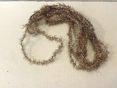 Vintage Antique Gold Tinsel Christmas Feather Tree Garland Victorian Germany ?